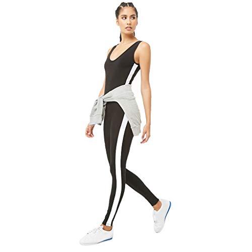 BRISEZZ Damen Einteiliger Rückenfrei Sport Yoga Overall,Lange Sporthose Tights- für Fitness Laufen - Perfekte Passform Gym Wear