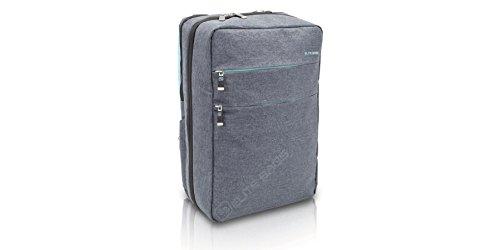 Rucksack CITY'S für häusliche Pflege und medizinische Untersuchungen | Erste-Hilfe-Tasche | Farbe: Grau-Blau | Abmessung: 40 x 28 x 14 cm (Elite Bags Medizinische)