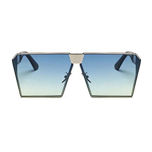 RYRYBH Sonnenbrille Polarisierte Sonnenbrille, Mode Metallrahmen Platz Sonnenbrille Klassische Ton Luxus Aviator Spiegel Objektiv Gläser Reise Sonnenbrille Sonnenbrille