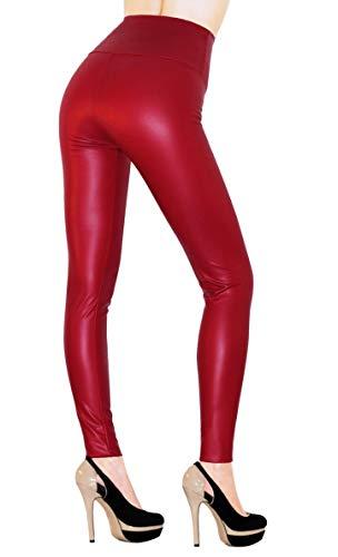 Sodacoda Ladies High Waist Stretch Faux Leather -