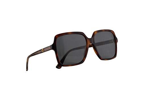 Gucci GG0375S Sonnenbrille Havana Braun Mit Blauen Gläsern 56mm 003 GG0375/S 0375/S GG 0375S