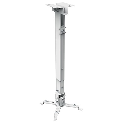 Universal Ceiling Projector Mount (Max 44 Lbs) White