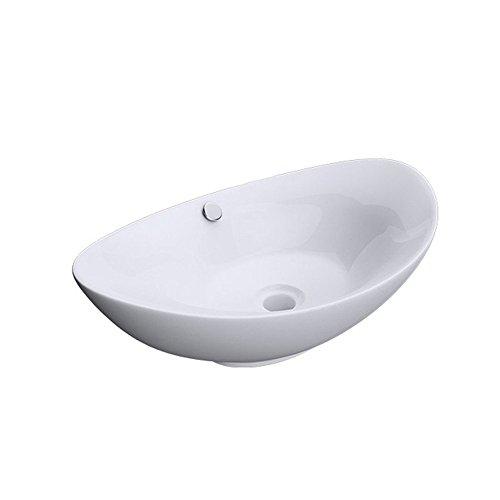 Sogood Brüssel818 Aufsatzwaschbecken Keramik, weiß, inkl. Nano-Versiegelung