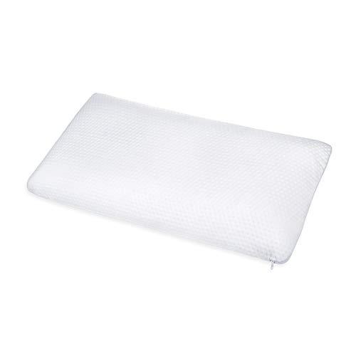 ABAKUHAUS Viscoschaum Kissen aus Premium Qualität Material, Halswirbelsäule Probleme Maschinenwashbarer Bezug für Allergiker und Kinder mit Belüftungslöchern Atmungsaktiver Kissen