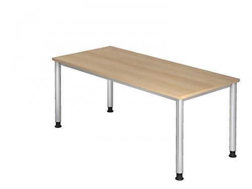 Schreibtisch DR-Büro Serie H - 180 x 80 cm - Einstellbar 68 bis 76 cm - in 7 Farben - Stahlgestell,...