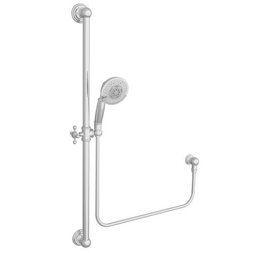 Newport Brass 280E Multi Function Wall Mount Handshower Kit with 36 Slide Bar a, Polished Chrome by Newport Brass -