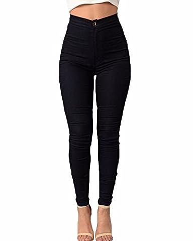 ZANZEA Femme Pantalons 5 Couleurs Sexy Taille Haute Pencil Slim Legging Skinny Stretch Leggings Crayon Pants Noir FR 36/Etiquette Taille M