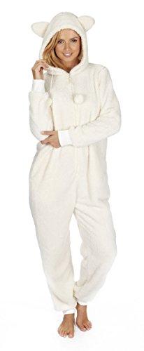 Womens-Kigurumi-Onesie-Warm-Fluffy-Fleece-Hooded-Snuggle-Playsuit-Sleepwear-NEW