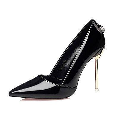 Rtry Mujer Zapatos Cuero Sintético Otoño Invierno Comfort Tacones Stiletto Heel Rhinestone Acentuado Para Vestirse De Color Rosa Claro Negro Negro Púrpura Us6 / Eu36 / Uk4 / Cn36