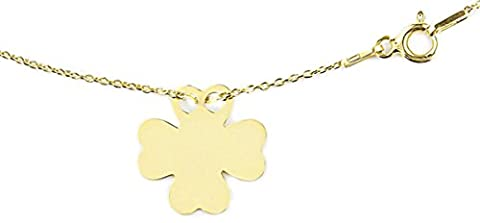 Ah! Jewellery HOT Celebrity Layered Style Four Leaf Clover Necklace 24K Gold over Sterling Silver. Simple & Stunning! 1.5cm Pendant / 45cm Chain. Stamped 925. 10 Year Guarantee.