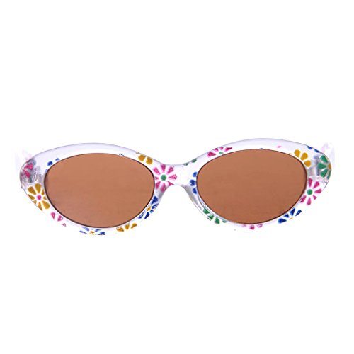 Katze Kostüm Kid - Sharplace Niedliche Puppenbrillen Gläser Sonnenbrille mit Katze / Ovale / Blume Rahmen Für 18 Zoll American Girl Puppen - Weiße Blume, # B