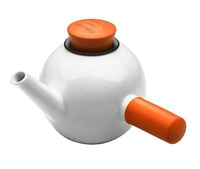 QDO Théière en porcelaine avec poignée latérale Orange