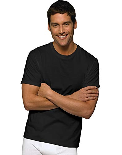 Hanes Mens UltimateTM FreshIQTM Crewneck LT-3XLT 3-Pack (K314HUT3) -Black -3XT -3PK -