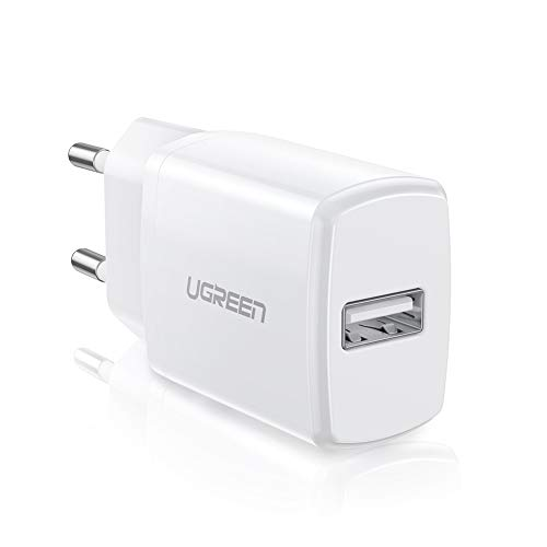 UGREEN USB Ladegerät 10W USB Ladeadapter kompatibel mit iPhone X, 8, 7, 6 Plus,6s,5s,iPod, Samsung S8 S7,S7 Edge S5 S4 Mini S6 A3 A5 A6 J7 J5 J4 J3 Note 4, Huawei P8,P9 lite, Honor6,Nokia 8, MP3 usw.