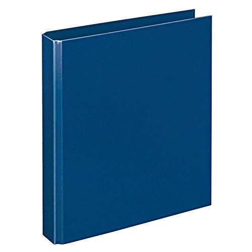 Veloflex 4156050 Ringordner Basic, Ringbuch, Ordner, DIN A5, 206 x 230 x 42, 4-Ring-Mechanik, blau