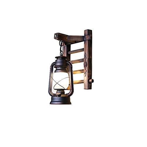 SLIANG Lampe de Mur rétro, Lampe de Couloir de Couloir escalier Balcon Antique Lampe de Mur en Bambou Couloir Restaurant Loft décoration Lampe 24 * 38 cm