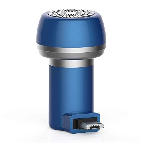 Abilieauty 2-in-1 Magnetisch Elektrischer Rasierer Mini Tragbar Type-C USB Wasserfest Haltbar Rasierer - Saphir Blau, USB -