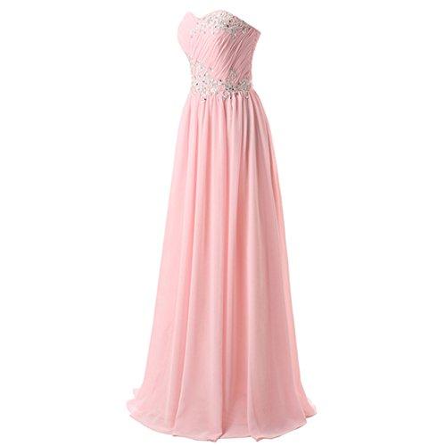 Find Dress Femme Sexy Robe Bustier Formelle Robe de Soirée/Cocktail/Cérémonie pour Mariage Longue au Sol en Mousseline Lavande
