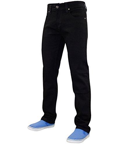 Pantalones vaqueros True Face ajustados y elásticos de algodón para hombre Beige negro talla única