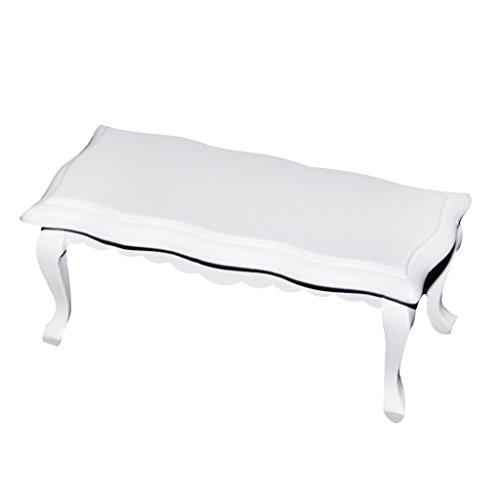 Table Basse en Bois Miniature pour 1/12 Maison de Poupée - Blanc