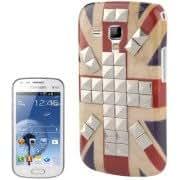 Alcoa Prime Retro UK Flag Pattern Silver Rivet Plastic Case for Samsung Galaxy Trend Duos / S7562