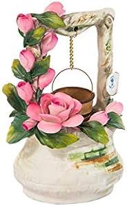Pozzetto Dei Desideri Con Rose In Porcellana Fatto A Mano In Italia Da Unionporcelain In Stile Capodimonte Col
