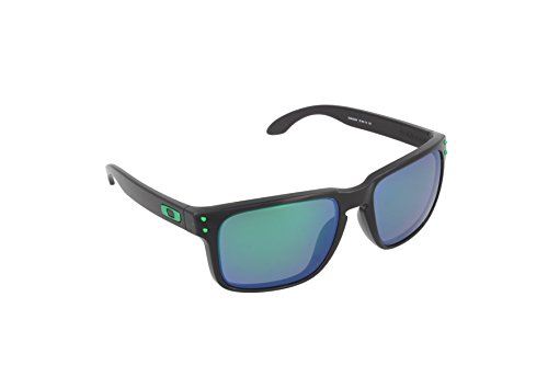 Oakley Sonnenbrille Holbrook, Black ink W/Jade iridium Polarized, One size, OO9102-69