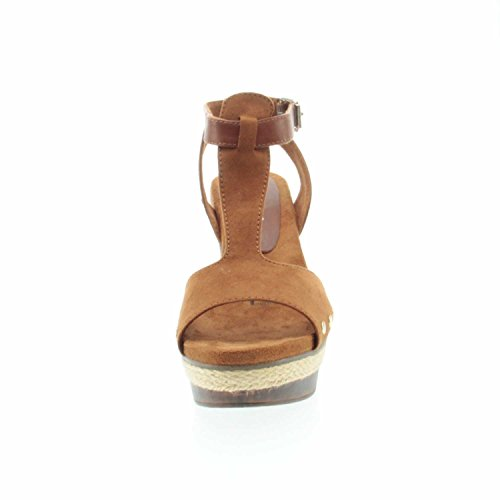 Tamaris 28032 Damen Offene Sandalen mit Blockabsatz Cognac Uni