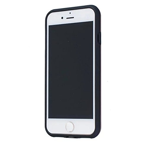 JIALUN-Telefon Fall Solid Color Shock Back Cover Telefon Fall für Apple IPhone 7 4,7 Zoll ( Color : Black , Size : IPhone 7 4.7 Inch ) Silver