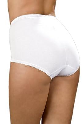 3 Pack Of Womens/Ladies Lingerie/Underwear Lace Comforts Maxi Briefs Plain, Various Colours & Sizes