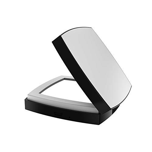 Mini-Tasche LED beidseitig Schminkspiegel faltbar, USB-Aufladung 10-fach Lupenbeleuchtung, weiß...