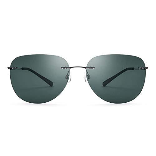 Yiph-Sunglass Sonnenbrillen Mode Ovale Form Frameless Herren Sonnenbrille TR90 Rahmen UV Schutz Sonnenbrille Für Fahren Baseball Laufen Radfahren Angeln Golf. (Farbe : Grün)