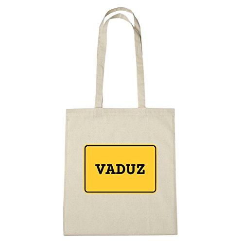 JOllify Vaduz di cotone felpato b4787 schwarz: New York, London, Paris, Tokyo natur: Ortsschild