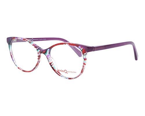 Etnia Barcelona Brille (QUITO PUTQ) Acetate Kunststoff marmor stil lila - geräuchert lila
