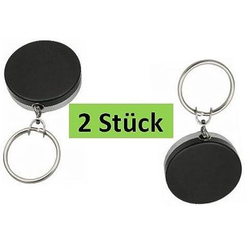 Le chiavi catena Rollmatik - nero con
