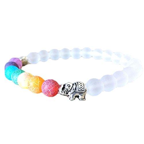 nikgic 8mm perlas multicolor Power pulsera DIY Mujeres Yoga elástica, hecho a...