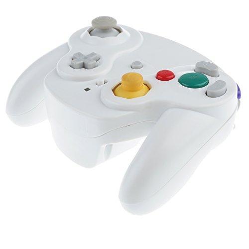 Baoblaze Contrôleur Sans Fil de jeu Vidèo Accessoire jeu Vidèo Pour Nintendo Gamecube Wii Pièce Remplacement - Blanc