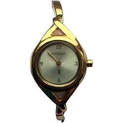 Fontenay Damen vergoldet Analog Quarz Gold Zifferblatt Armreif Armbanduhr 3ATM UVP 79,00erhältlich bei 50% Discount.