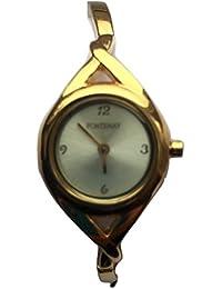 Montre Fontenay Femme Bracelet quartz analogique cadran doré plaqué or 3ATM de 79.00Disponible à 50% Discount.
