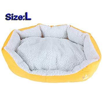 Yellow Toogoo R Large Waterproof Warm Soft Fleece Puppy Pet Dog Cat Bed House
