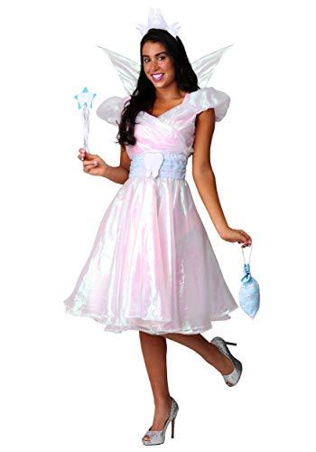 Fun Costumes Damen-Kostüm Zahnfee - Weiß - ()