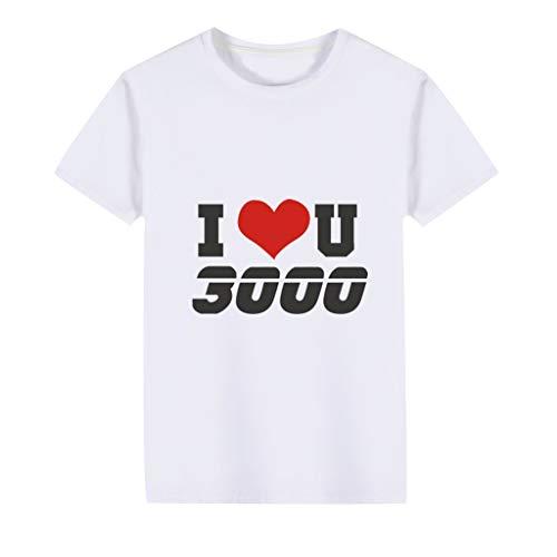 Obestseller Jungenbekleidung,Kleinkind Baby Kinder Mädchen Jungen Ich Liebe Dich Brief gedruckt T-Shirt Tops Kleidung Unisex,Sommerkleidung