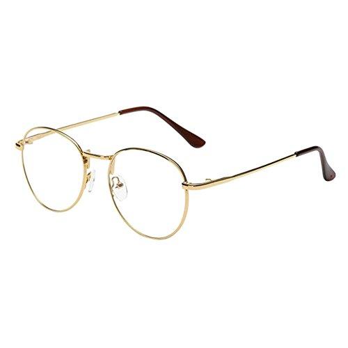 Xinvision Damen Herren Kurzsichtig Gläser,Jungen Mädchen Metall Rahmen Anti-Strahlung Kurzsichtigkeit Myopia Brillen -1.0~-6.0 mit Brille Shell (Diese sind nicht Lesen Brille)