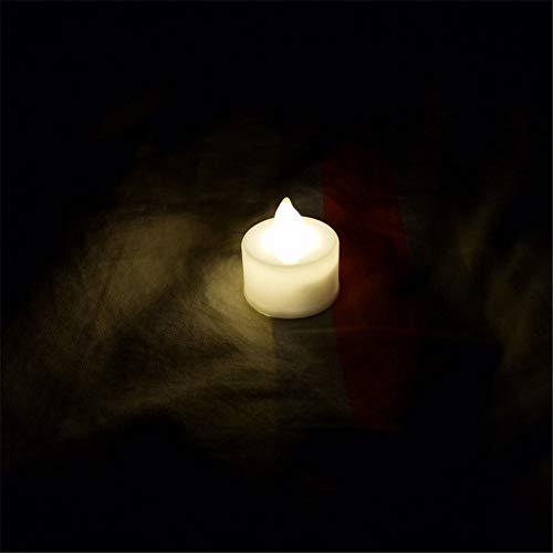 24 LED Kerzen, GTQC LED Flammenlose Tealights, Flackern Teelichter, elektrische Kerze Lichter Batterie Dekoration für Weihnachten, Weihnachtsbaum, Ostern, Hochzeit, Party 3.5CM*4.4CM