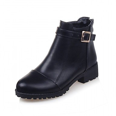 Rtry Women's Shoes Leatherette Hiver Printemps Mode Bottes Bottines Chunky Talon Round Toe Booties / Zipper Bottines Pour Mariages Bureau & Amp; Us8 / Eu39 / Uk6 / Cn39