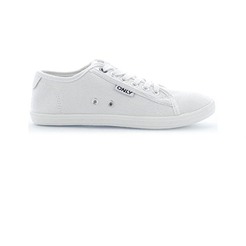 Only scarpe Sneaker Low Top Basic Mocassino Slipper da donna scarpe da ginnastica bianco 39