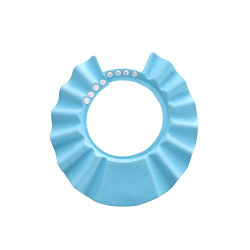 Baby Bad Schützen, Isuper Einstellbarer Hut für Baby Bad Weiche Kappe für Babys und Kinder Blau