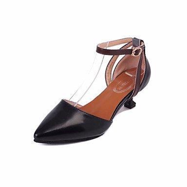 Zormey Sandales Femmes Chaussures Club Printemps Été Robe Pu Boucle Talon Occasionnels US6.5-7 / EU37 / UK4.5-5 / CN37