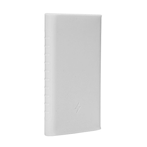 Heartly Soft Silicone Pouch Protector Cover Case For 10000mAh Mi Power Bank 2 (Version 2) - Back White  available at amazon for Rs.299