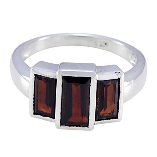 Chandra Edelsteine (echte Edelsteine faincy facettierte Granatringe - 925er Silber roter Granat echte Edelsteine Ring - Ledies Schmuck meistverkauften Artikel Geschenk für Cyber Montag gute Ringe)